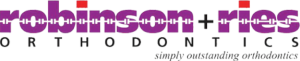 Robinson + Ries Orthodontics logo with purple text.